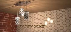The Triple Mirror Basket light fixture by Byzantine Homes #interiordesign $795