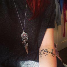 Pequeño tatuaje de un mapamundi en el antebrazo que nos manda una de nuestras seguidoras de Instagram.