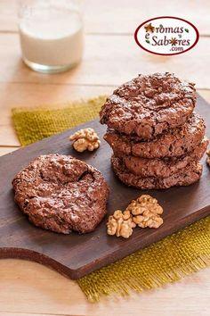 Biscoitos de chocolate e nozes