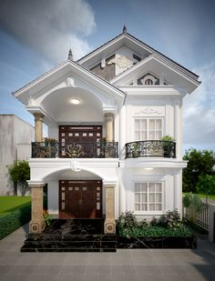 Modern House Design 548242954642764710 - Source by giannymejia Bungalow Haus Design, Modern Bungalow House, Modern House Facades, Small House Exteriors, Duplex House Design, House Outside Design, House Front Design, Small House Design, Classic House Exterior