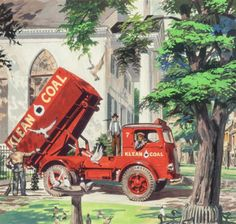 Peter Helck   Mack Truck Ad