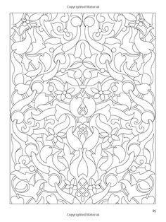 Arabic Floral Patterns Coloring Book Dover Design Books Nick Crossling 9780486478470