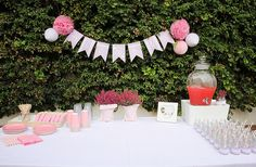 Comida, bautizo, rosa, pink, baptism, food, party, baby, bebé