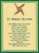 Saint Brigid Cross Irish House Blessing Holy Post Card Set of 8 House Blessing, Irish Blessing, Catholic Prayers, Catholic Saints, Catholic Art, Roman Catholic, St Brigid Cross, Brigid's Cross, Corn Dolly