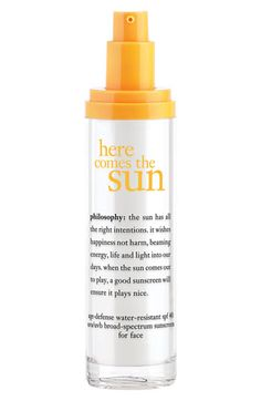 philosophy 'here comes the sun' age defense facial sunscreen spf 40 #Nordstrom