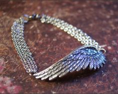 ANGEL WING ANKLET-Beautiful Ankle Bracelet by RevelleRoseJewelry