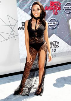 Tinashe wore a black lace Philipp Plein gown to the 2016 BET Awards. See what other stars wore!