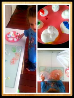 #toddleractivities  This is a mix of shaving cream and food dye on glass!   #fingerpaint  Masadamum.blogspot.com Food Dye, Finger Painting, Crafts For Girls, Shaving Cream, Toddler Activities, Cool Kids, Action, Glass, Fun