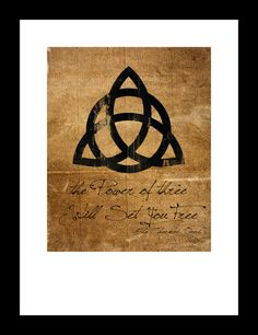 Charmed Inspired Poster Print The Power of Three by mxMEDIAprints, $3.00