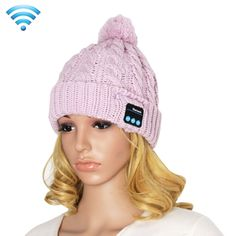 [$10.56] My-Call Bluetooth Headset Beanie Knitted Warm Winter Hat for iPhone 6 & 6s / iPhone 5 & 5S / iPhone 4 & 4S and Other Bluetooth Devices(Pink)