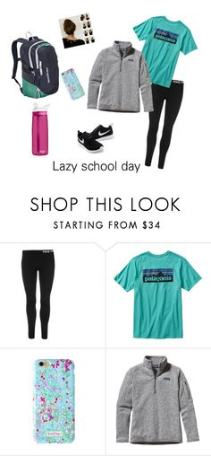 """Lazy"" by airwin71 ❤ liked on Polyvore featuring NIKE, Patagonia, Lilly Pulitzer and CamelBak"