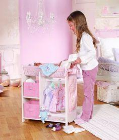voila une table a langer pour poup e faite maison un jolie. Black Bedroom Furniture Sets. Home Design Ideas