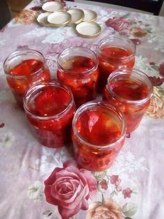 Zaváraná pečená paprika (fotorecept) Punch Bowls, Paleo, Food And Drink, Canning, Conservation