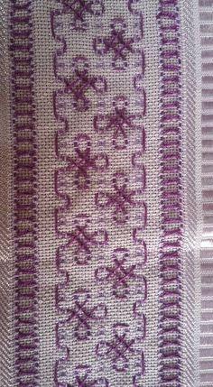 Discover thousands of images about Huckaback embroidery Swedish Embroidery, Towel Embroidery, Types Of Embroidery, Embroidery Stitches, Embroidery Designs, Stitch Patterns, Knitting Patterns, Crochet Patterns, Blackwork