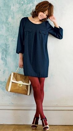 love the color scheme! Stocking Tights, Beauty Hacks, Beauty Tips, Cold Shoulder Dress, Stockings, Shirt Dress, Female, Trending Outfits, My Style