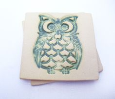 Coasters: Buy air dry clay and carve/stamp design into it, paint and glue felt onto the bottom.