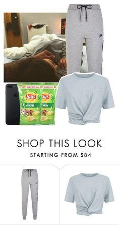 """Lazy day w/ my boyfriend💕💕💕 (Bruna)"" by briquel13287 ❤ liked on Polyvore featuring NIKE and T By Alexander Wang"