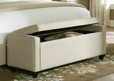 Shop for the Liberty Furniture Upholstered Beds Lift Top Bed Bench at Pilgrim Furniture City - Your Hartford, Bridgeport, Connecticut Furniture & Mattress Store Padded Storage Bench, White Storage Bench, Storage Bench Seating, Upholstered Storage Bench, Ikea Storage, Upholstered Beds, Bedroom Storage Boxes, Ottoman Storage, Entryway Storage