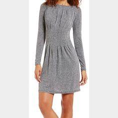 Michael Kors Herringbone Dress Matte jersey fabric, long sleeve, worn only twice! Michael Kors Dresses