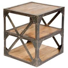 Brantley Side Table (metal + mango wood)