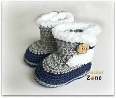 Fuzzy Booties by Crochet Zone Free Pattern