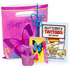 BUTTERFLY BIRTHDAY PARTY FAVOR KIT $3.99