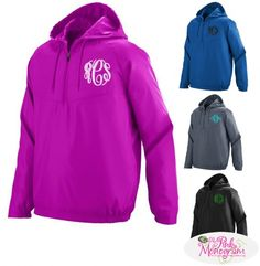 Monogrammed Avail Pullover in Pink , Blue and Black Apparel & Accessories > Clothing > Outerwear > Coats & Jackets