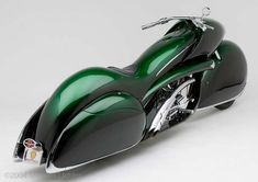 If Ettore Bugatti had been diverted away from car design and into motorcycles this is almost certainly what he would have built. This remarkable art deco motorcycle was designed and built by master bike builder Arlen Ness, surprisingly there isn't much information available on this jaw-dropping two-wheeler