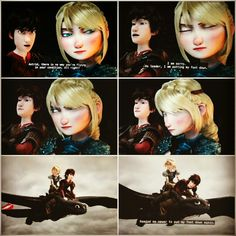 No one can persuade Astrid, even Hiccup, once she has her mind set XD