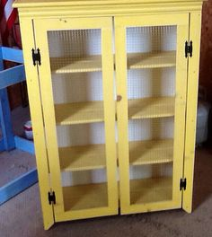 Rustic and Primitive Jelly Cabinet Cupboard by SameAsNever on Etsy, $329.00