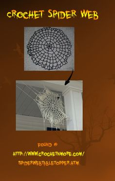 Crochet Spider Web~ WHAT??? That's amazing!!