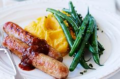 Have dinner on the table in under 30 minutes with these tasty pork sausages…