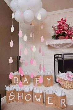 24 insanely cool baby shower decoration ideas - HomeDesignInspired - this is . - 24 Insanely Cool Baby Shower Decoration Ideas – HomeDesignInspired – This is a very important a - Decoracion Baby Shower Niña, Idee Baby Shower, Fiesta Baby Shower, Baby Shower Prizes, Baby Shower Gender Reveal, Cloud Baby Shower Theme, Baby Shower Goodie Bags, Baby Shower Balloon Ideas, Baby Shower For Girls