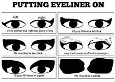 And being able to put liquid eyeliner on evenly is completely out of the question.