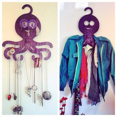 Octopus hanger by hex www.hex-me.com Octopus, Hangers, Drop Earrings, Jewelry, Style, Fashion, Swag, Moda, Clothes Hanger