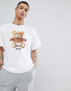 LOVE MOSCHINO MOSCHINO LOUNGE BEAR T-SHIRT - WHITE. #lovemoschino #cloth #