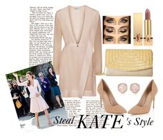 """""""Steal Kate's Style"""" by wcarmelita on Polyvore featuring Alexander McQueen, Nina, Yves Saint Laurent, Lipsy and Monica Vinader"""