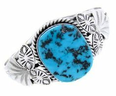 M. Spencer Sleeping Beauty Turquoise Sterling Silver Cuff Bracelet BW64806 SilverTribe. $239.99