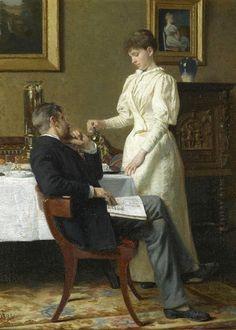 The Honeymoon (1893). Carl Thomsen (Danish, 1847-1912). Oil on canvas.