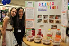 Ashley Kelley and Phoebe Kurth wanted to know which liquid would cause Orbeez to expand the most.