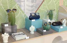 Vitrine par La Belle Idée #vitrine #opticien #étalagiste #lunettes #optique #solaires #cactus #été