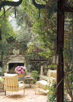 Secret Garden from Behind Lilies, Lattes & Lace