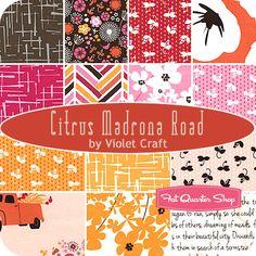 Citrus Madrona Road Fat Quarter Bundle Violet Craft for Michael Miller Fabrics - Fat Quarter Shop