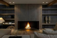 Contemporary Fireplace Decor Before And After Fireplace Makeovers Modern Fireplace Ideas . Home Fireplace, Fireplace Remodel, Living Room With Fireplace, Fireplace Surrounds, Fireplace Design, Living Room Decor, Fireplace Ideas, Linear Fireplace, Fireplace Makeovers