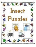 Print and laminate, cut across and down on lines, kids then put them together like a puzzle, they also learn to read and pronounce the words.  14 bug Puzzles