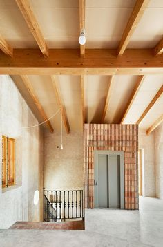 Aulets Architecture, José Hevia · Reform of Oenological Station Arch Interior, Interior And Exterior, Interior Design, Contemporary Architecture, Interior Architecture, Exterior Handrail, Concrete Basin, Masonry Wall, Metal Pergola
