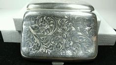 1923 Antique Birmingham Sterling Silver 925 BRITISH W. H. Haseler Cigarette Case #WilliamHairHaseler