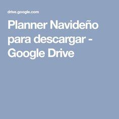 Planner Navideño para descargar - Google Drive