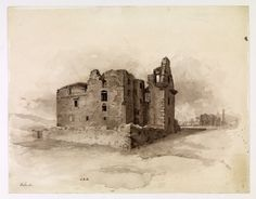 Painting of Faside Castle in ruins. Holiday Accommodation, Edinburgh, Castle, Painting, Beautiful, Art, Art Background, Painting Art, Paintings