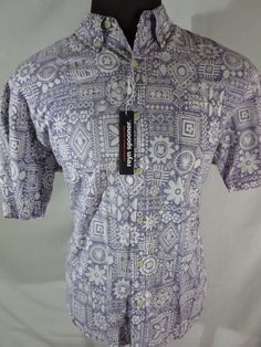 NWT Reyn Spooner Mens Hawaiian Style Shirt L Copyrighted Print #ReynSpooner #Hawaiian